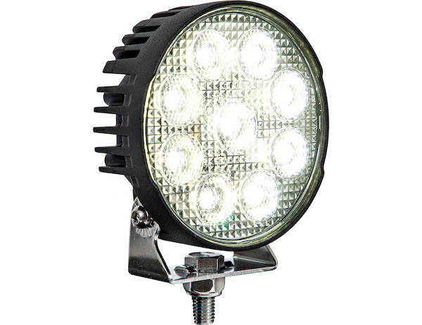 Ultra Bright 4.5 Inch LED Flood Light with Strobe - Round Lens