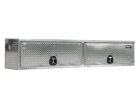 Diamond Tread Aluminum Topsider Truck Box with Flip-Up Door
