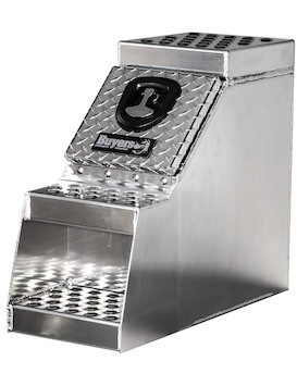 Heavy Duty Diamond Tread Aluminum Step Box