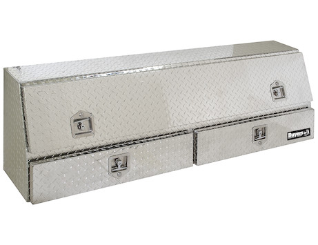 Diamond Tread Aluminum Contractor Truck Box with Lower Drawers