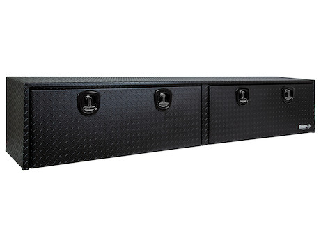 Textured Matte Black Diamond Tread Aluminum Topsider Truck Box