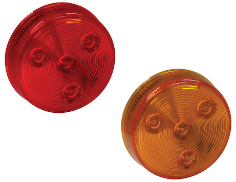2.5 Inch Round Marker/Clearance Light with 4 LEDs