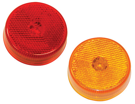 2.5 Inch Round Marker Clearance Light with Reflex and 4 LEDs