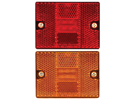 2.875 Inch Rectangular Marker Clearance Light Kit with Reflex and 6 LEDs