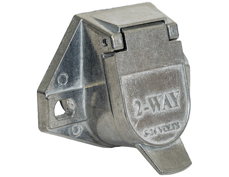 2-Way Die-Cast Zinc Trailer Connector - Truck-Side